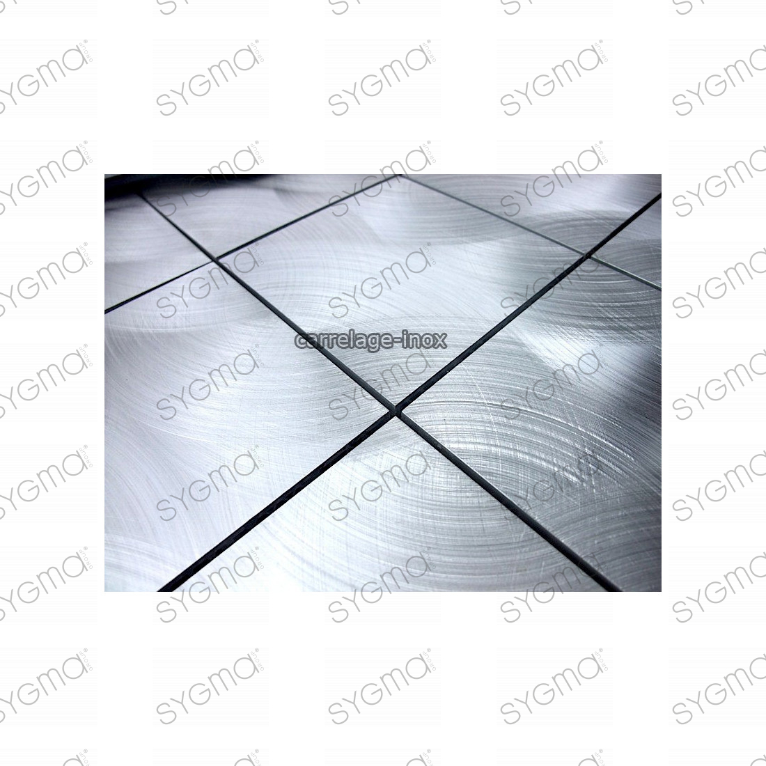 Carrelage aluminium mosaique faience - Credence cuisine alu ou inox ...