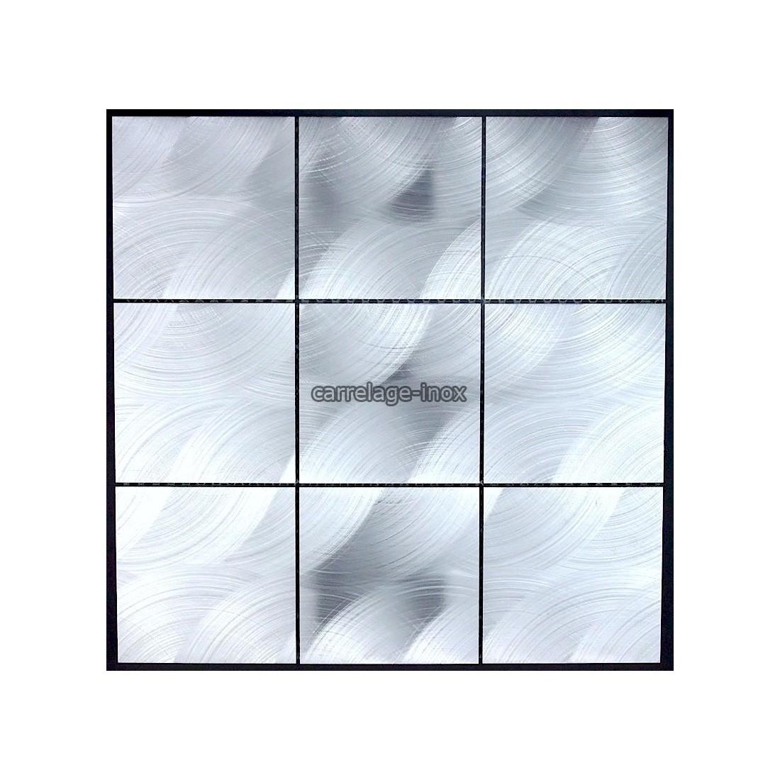 Mosaique et carrelage aluminium alu 98 - Credence cuisine alu ou inox ...