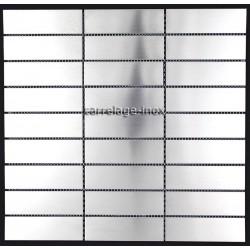 plaque mosaique inox crédence cuisine inox sol douche rectangular 98