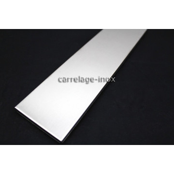 Carrelage metal plinthe inox carreaux acier 1 piece linea for Linea carrelage