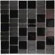 Mosaique carrelage inox verre noir 1 m2 MODULO
