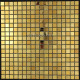 Mosaique et carrelage inox dore 1 m2 GOLD MIX 15