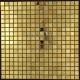 Mosaique et carrelage inox dore 1 m2 GOLD MIX 15