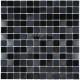 carrelage inox mosaique faience 1 m2 DOBLO NOIR