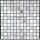 carrelage inox et verre 1 m2 mosaique faience DOBLO BLANC