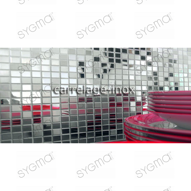 mosaique inox carrelage cuisine mosaique douche miroir mix carrelage. Black Bedroom Furniture Sets. Home Design Ideas