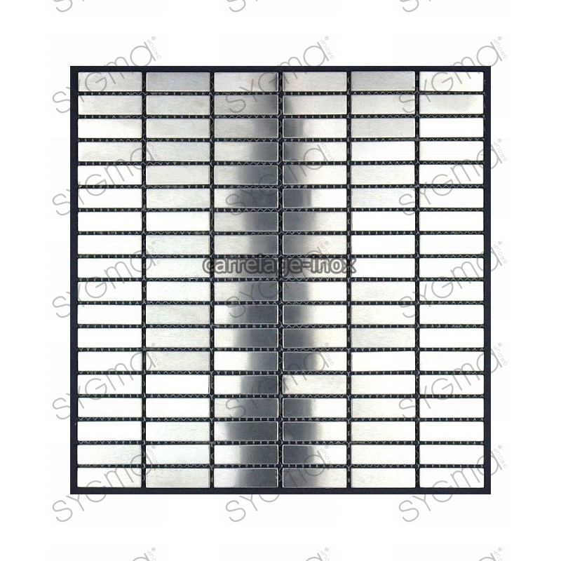Mosaique et carrelage inox 1 plaque rectangular 48 for Carrelage rectangle
