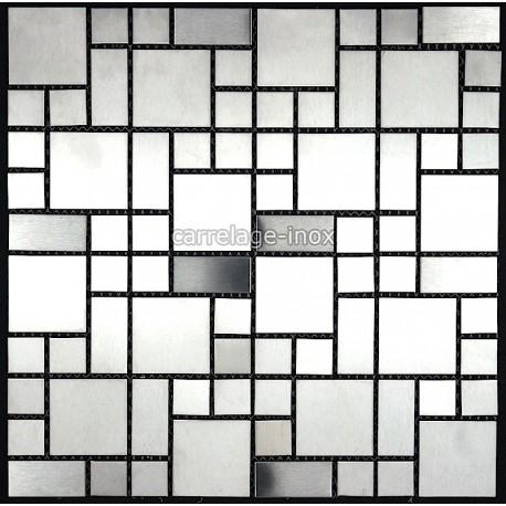 Dalle mosaique inox douche mosaique salle de bain laska - Mosaique pour salle de bain pas cher ...