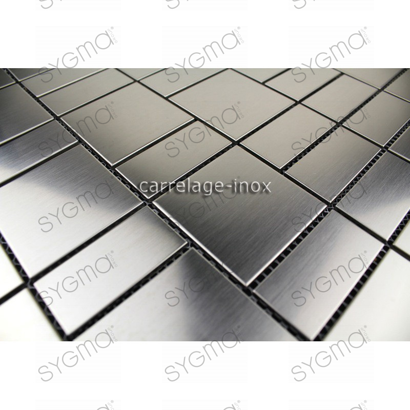 Mosaique inox carrelage faience credence loft for Carrelage mosaique