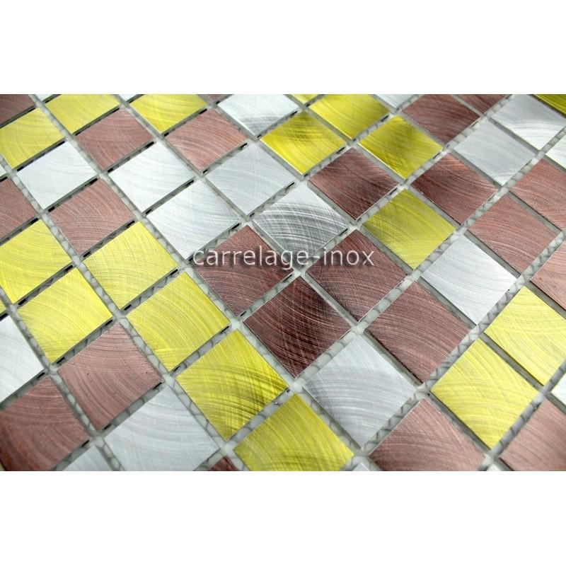 Plaque mosaique aluminium sol de douche salle de bain alu - Plaque de mosaique salle de bain ...