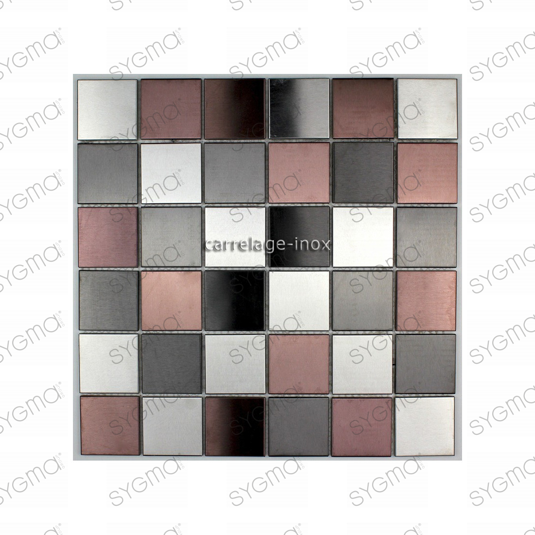 Mosaique carrelage inox credence faience primea for Dalle inox cuisine
