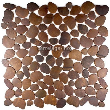 mosaique inox 1 plaque carrelage faience galet cuivre vieilli. Black Bedroom Furniture Sets. Home Design Ideas
