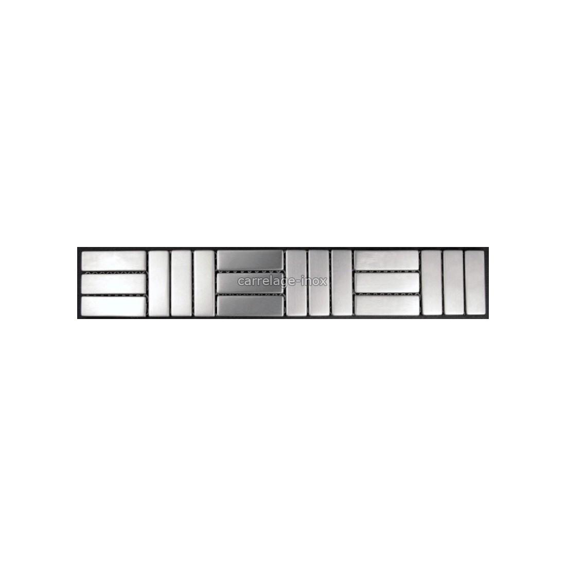 listel inox frise acier metal mosaique carrelage bordure duplica. Black Bedroom Furniture Sets. Home Design Ideas