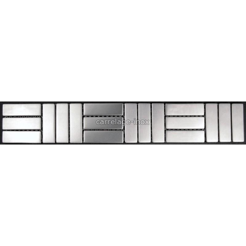 Listel inox frise acier metal mosaique carrelage bordure
