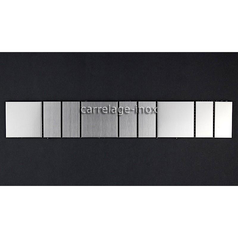 Listel inox frise acier metal mosaique carrelage bordure focus for Carrelage mosaique