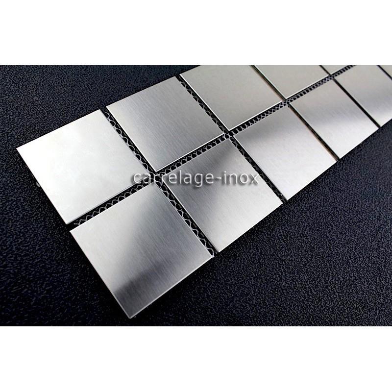 Listel inox mosaique carrelage frise acier metal REGULAR 48