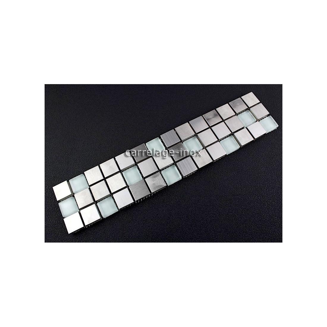 listel inox mosaique carrelage frise acier metal multi regular. Black Bedroom Furniture Sets. Home Design Ideas