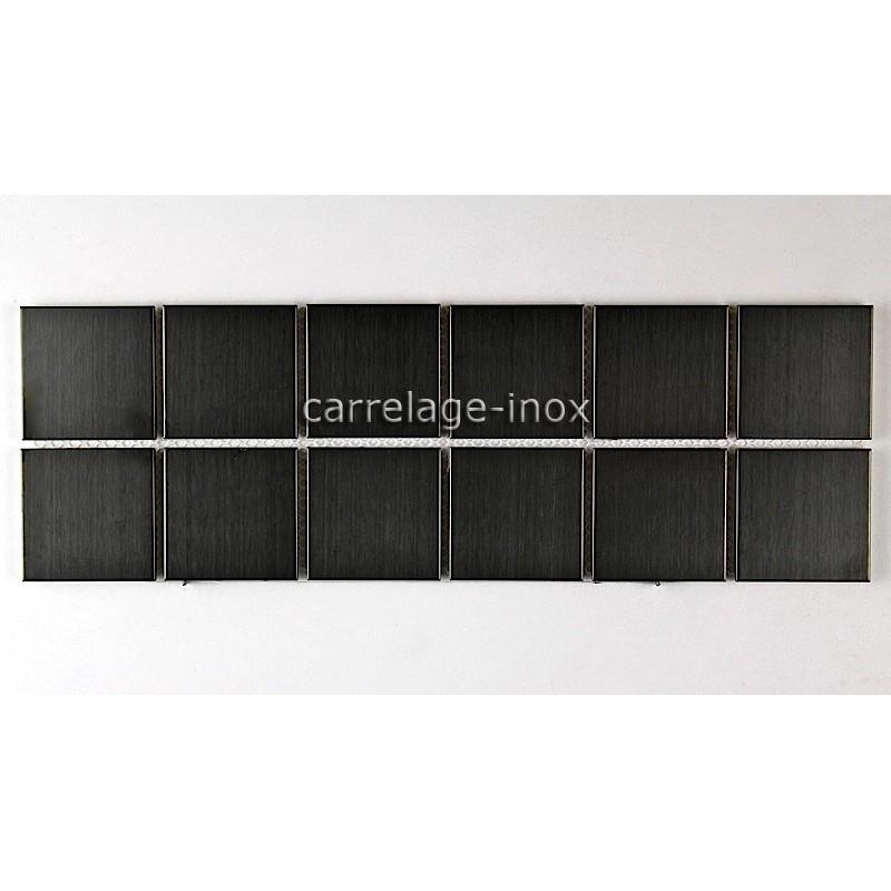 Listel Inox Mosaique Carrelage Frise Acier Metal Regular