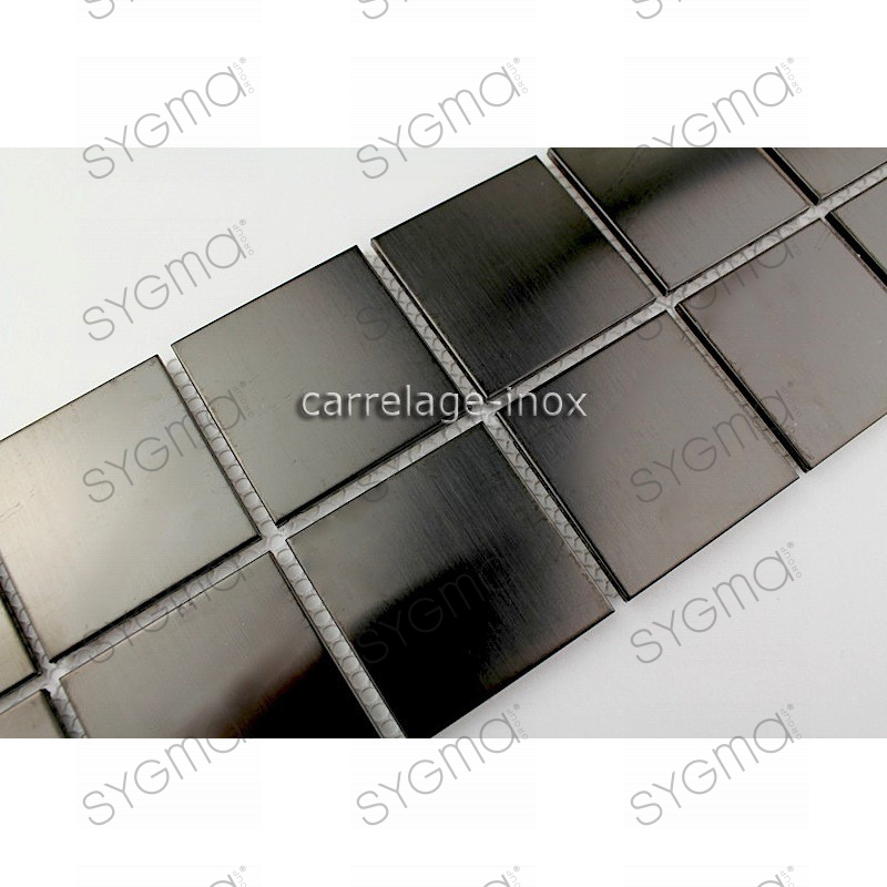 listel inox mosaique carrelage frise acier metal regular 48 noir. Black Bedroom Furniture Sets. Home Design Ideas