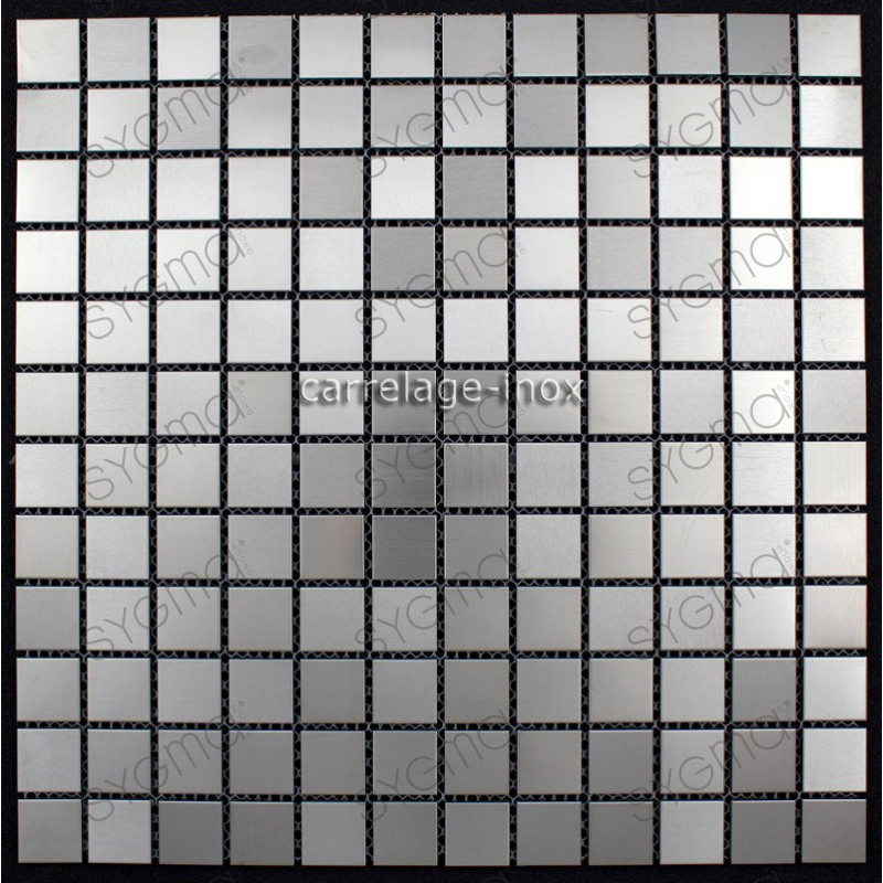 Carrelage inox 1m2 mosa que inox cuisine cr dence mixtion for Mosaique credence cuisine