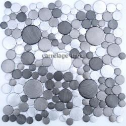 carrelage aluminium mosaique 1 plaque LOOPGRIS