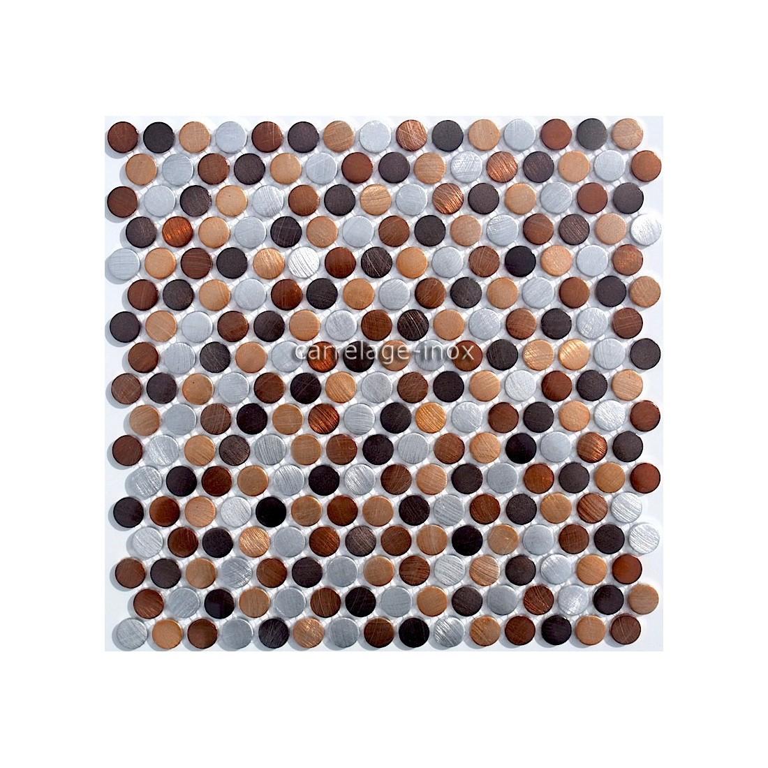 mosaique carrelage aluminium 1 plaque circlemarron. Black Bedroom Furniture Sets. Home Design Ideas