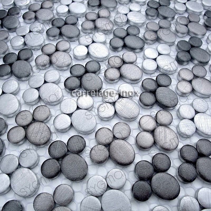 Dalle mosaique aluminium carrelage cuisine cr dence ludik for Plaque aluminium credence cuisine