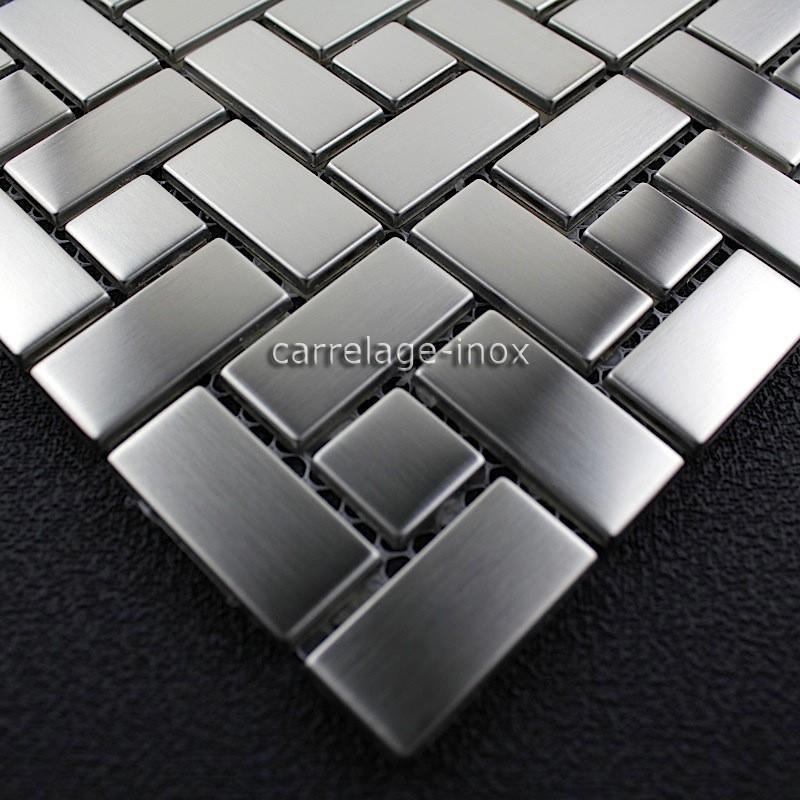 Mosaique inox carrelage faience credence loft - Mosaique inox ...