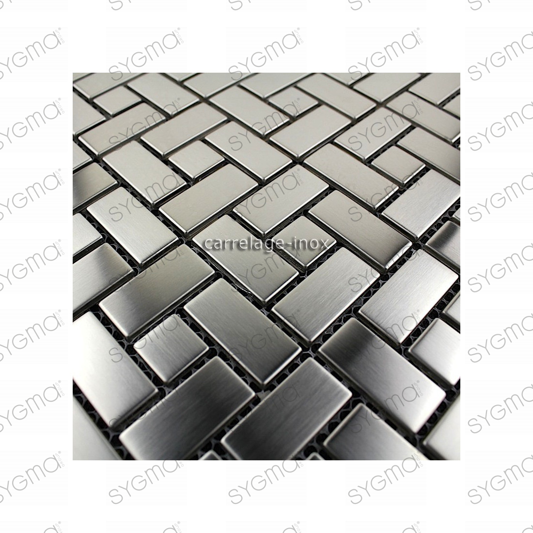 Mosaique inox carrelage faience credence loft for Mosaique carrelage