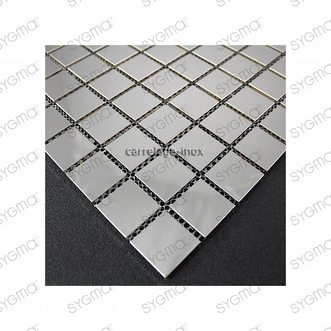 Carrelage mosaique inox miroir cr dence cuisine regular 30 for Carrelage inox fr