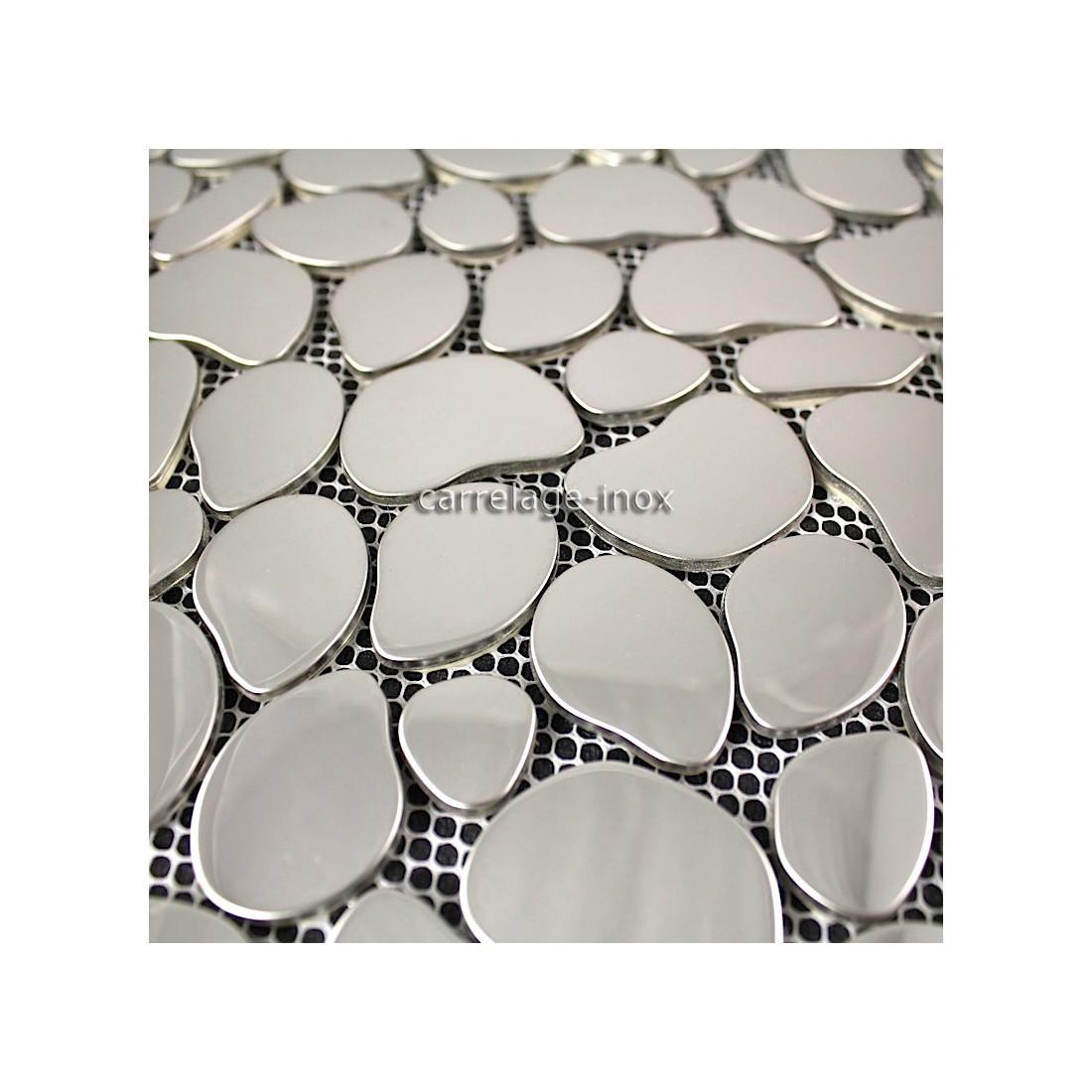 Mosaique inox miroir mosaique cr dence cuisine galet - Joint carrelage mosaique ...