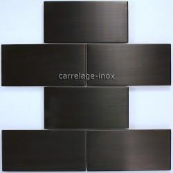 mosaique inox crédence cuisine mosaique douche brique 150 noir