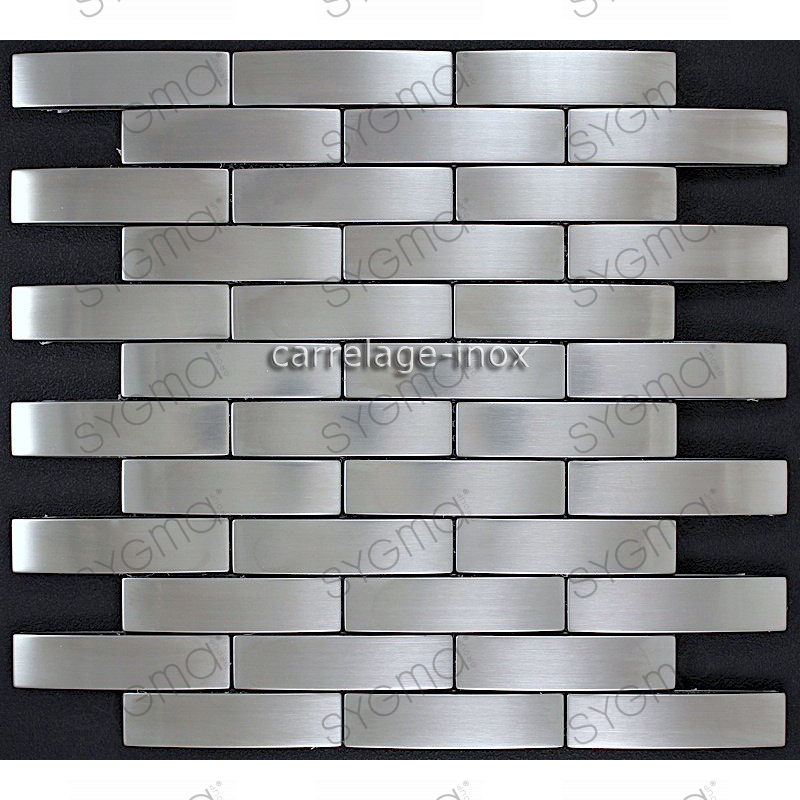 mosaique inox carrelage inox faience cuisine brique 64. Black Bedroom Furniture Sets. Home Design Ideas