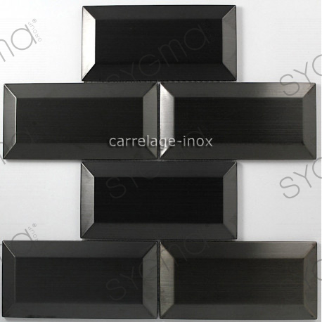 carrelage inox mosaique cr dence cuisine metro noir carrelage. Black Bedroom Furniture Sets. Home Design Ideas