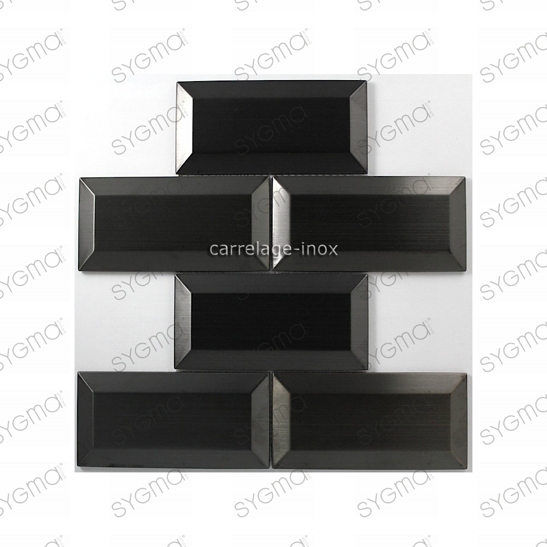 carrelage inox 1m2 mosa que inox cuisine cr dence metro noir carrelage. Black Bedroom Furniture Sets. Home Design Ideas