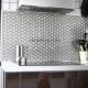 Mosaique et carrelage inox 1 m2, modele cube
