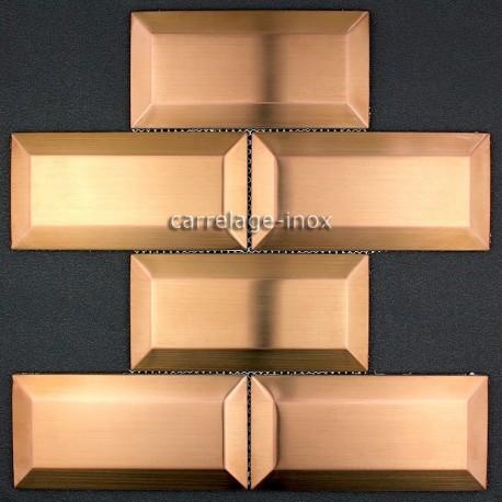 carrelage metro cuivre mosaique inox cr dence cuisine. Black Bedroom Furniture Sets. Home Design Ideas