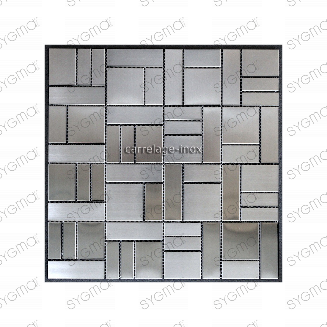 Mosaique inox carrelage faience credence loft for Modele credence en faience