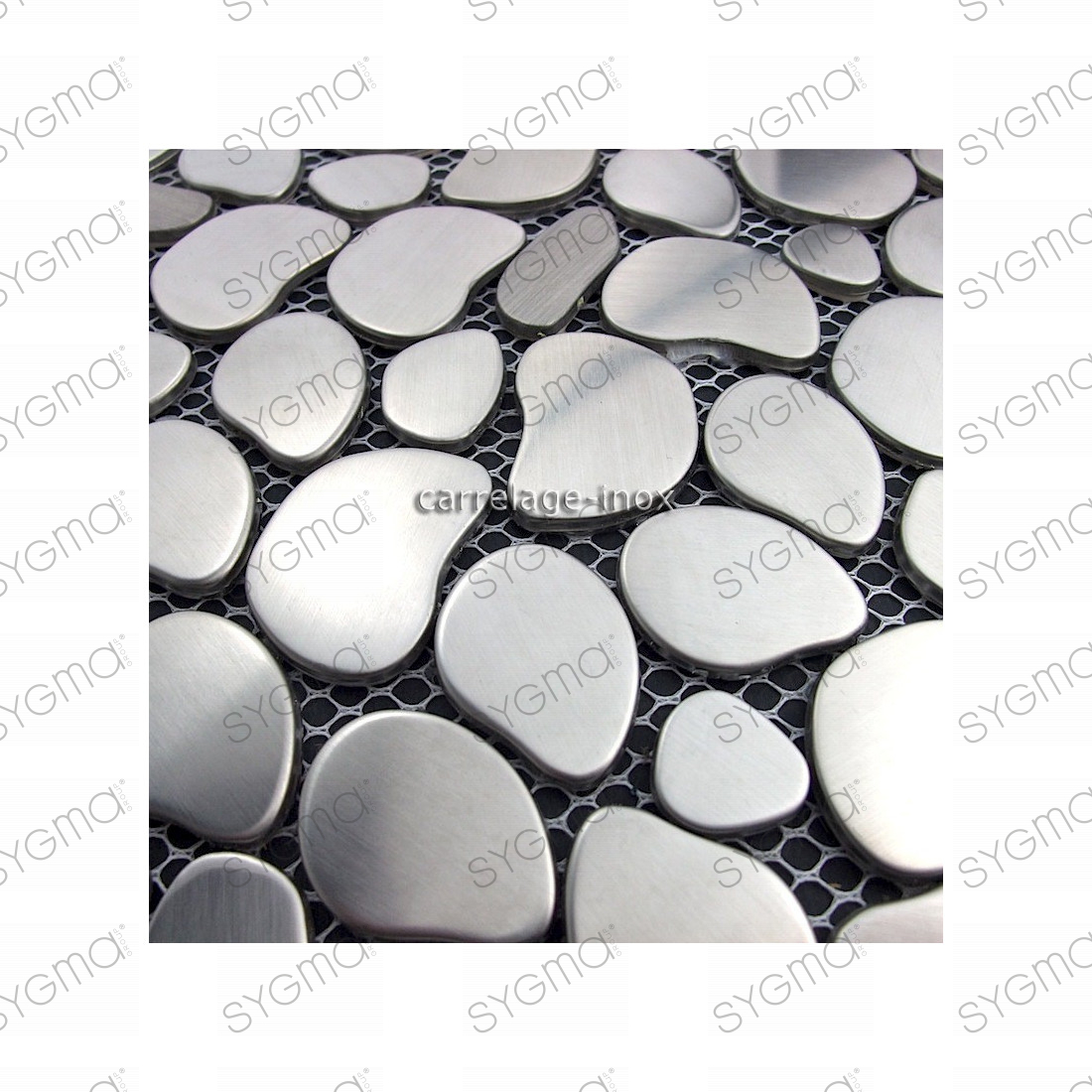 Mosaique inox 1 plaque carrelage faience credence galet for Plaque de galet exterieur