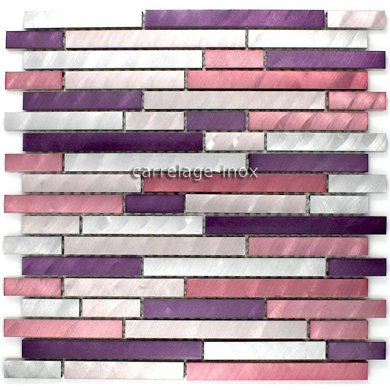 Mosaique aluminium carrelage cuisine cr dence blend violet carrelage for Credence violette