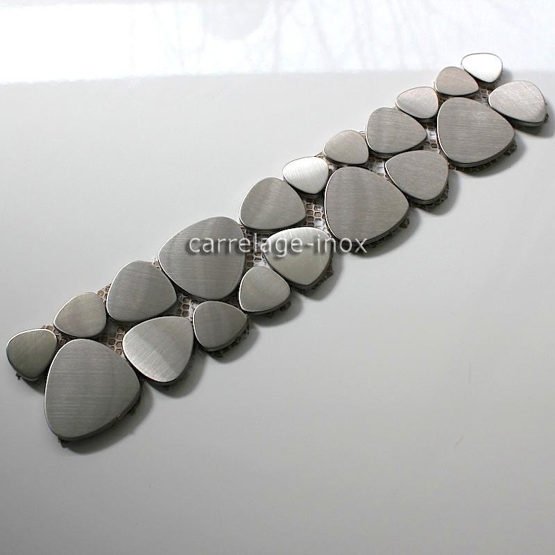 Listel inox mosaique carrelage frise acier metal laska for Plaque de carrelage