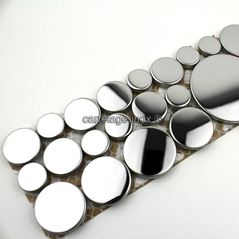 Mosaique frise en inox loop miroir carrelage for Listel carrelage salle de bain