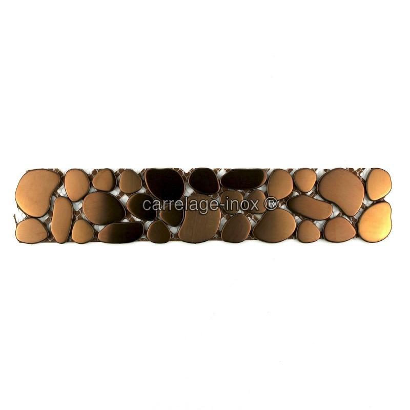 Frise carrelage inox galet cuivre carrelage for Frise carrelage