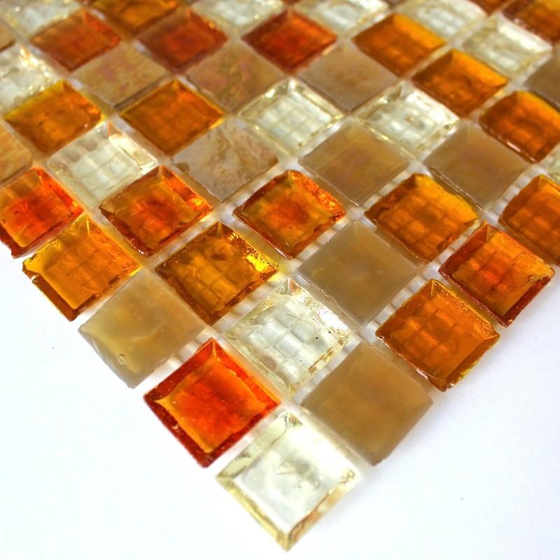 Mosaique et carrelage inox brosse rectangular 98 - Peindre carrelage credence cuisine ...