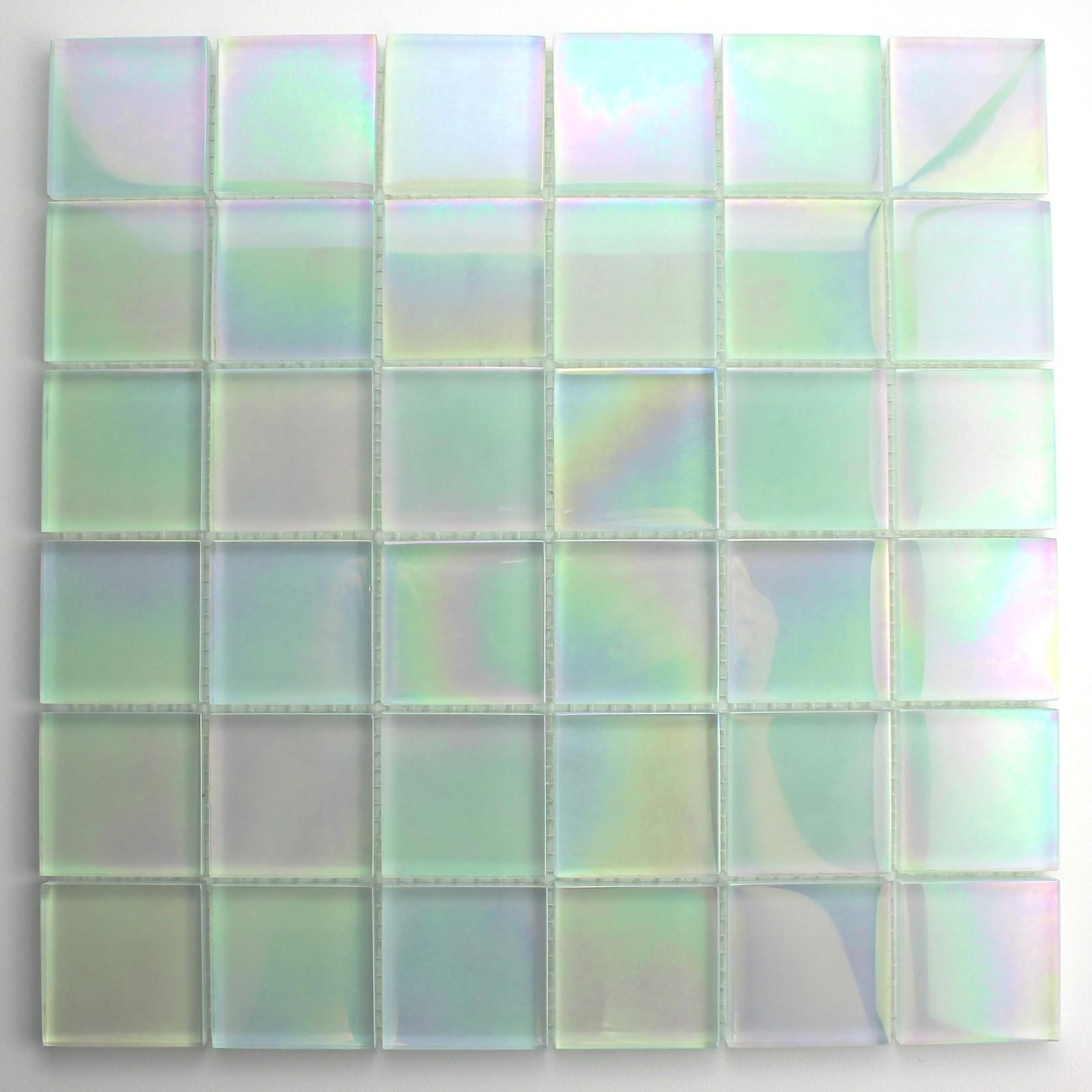 La mosaïque de verre, pierre, nacre, bois pour douche, salle de ...