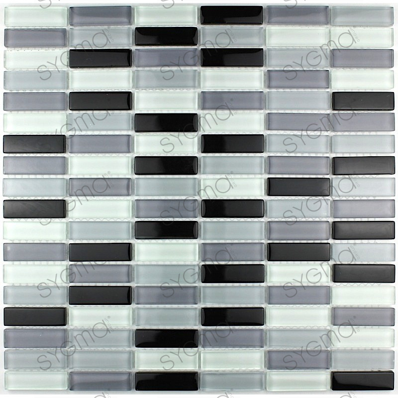 salle de bain galet noir mosaiques crdence verre mosaque verre douche rectangular - Galet Noir Salle De Bain