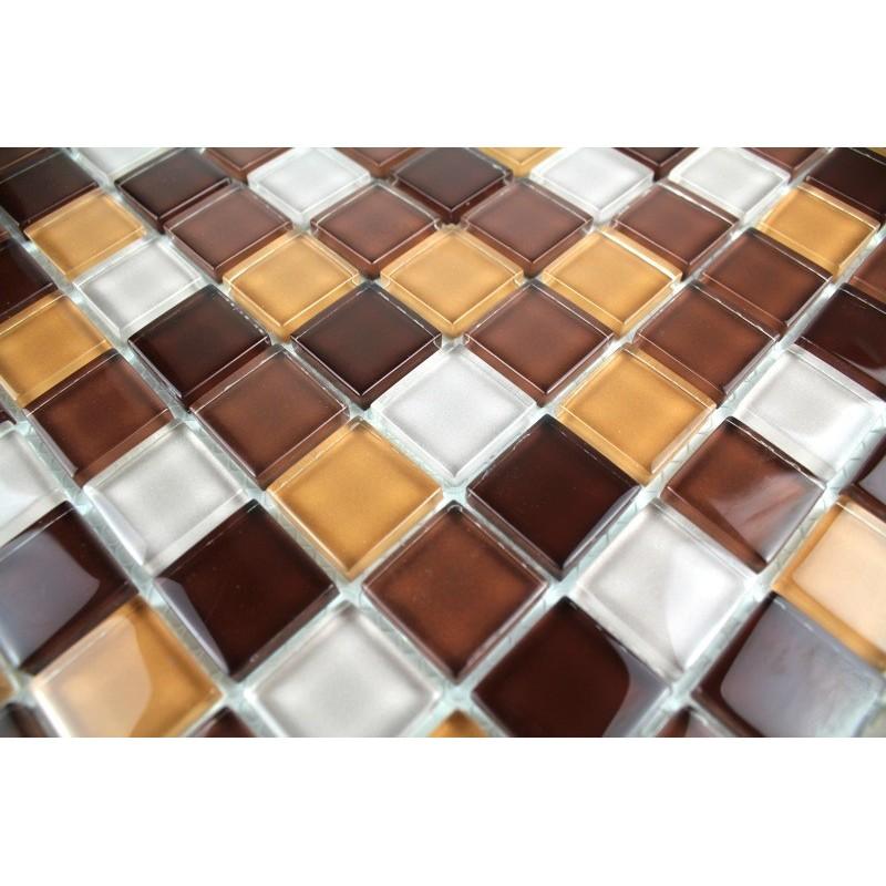 Mosaique et carrelage inox brosse rectangular 98 for Carrelage inox cuisine