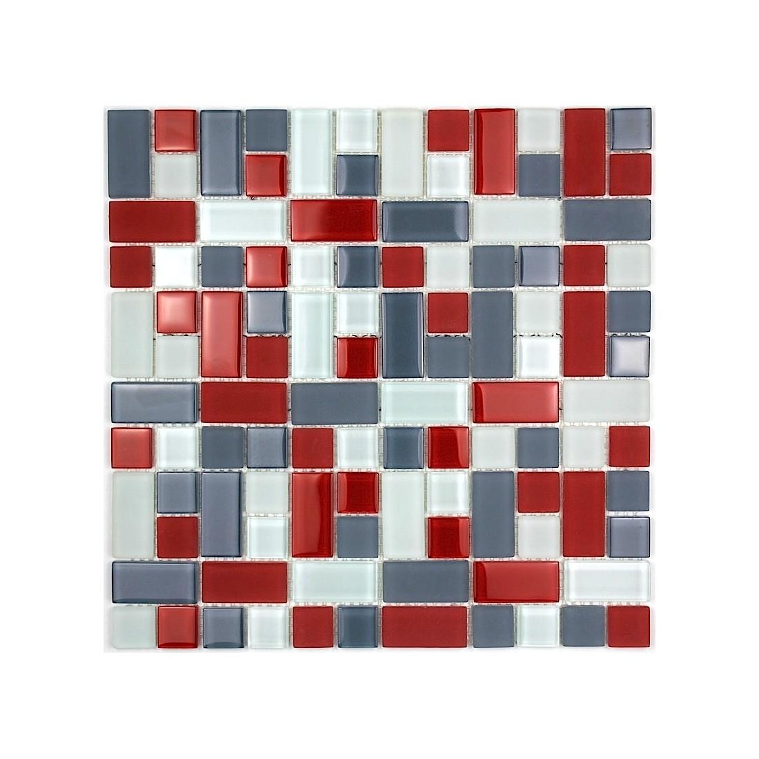 Carrelage - Mosaique de verre autocollante ...