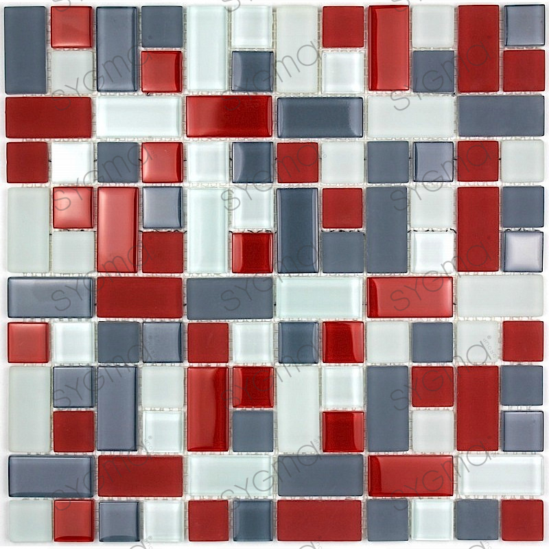 mosaique salle de bain rouge avec des id es int ressantes pour la conception de. Black Bedroom Furniture Sets. Home Design Ideas