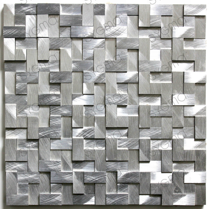 Mosaique et carrelage aluminium blend gris for Carrelage en mosaique